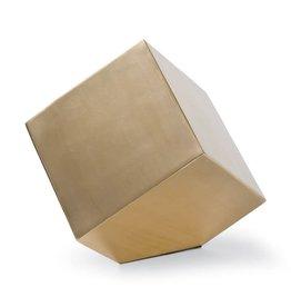 Regina Andrew Closed Standing Cube (Brass)
