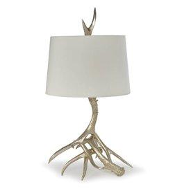 Regina Andrew Antler Table Lamp (Silver Leaf)