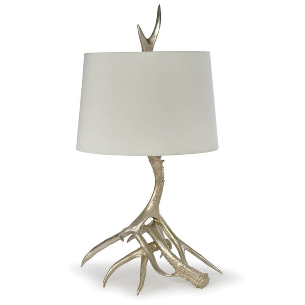 Regina Andrew Antler Table Lamp (Silver Leaf)   Considered Items For A  Considered Lifestyle | Urbane Home And Lifestyle