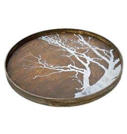 Ethnicraft USA LLC Large White Tree Driftwood Tray