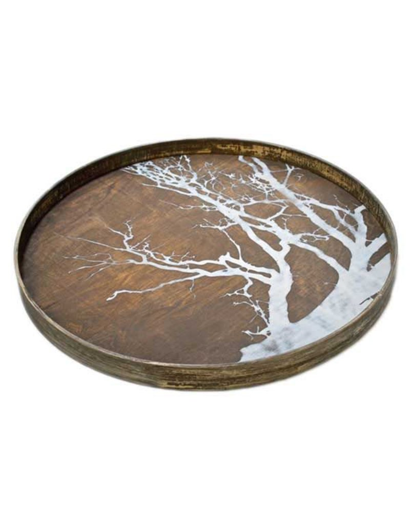Ethnicraft USA LLC Large White Tree Driftwood Tray