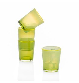 Couleur Nature Summer Glass Lime, Set of 4