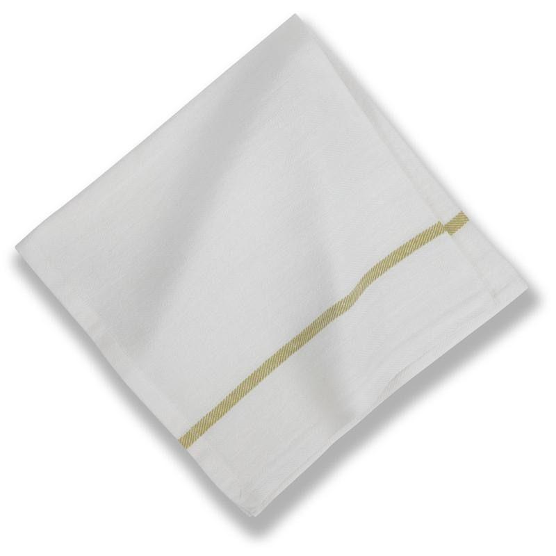 """Cotton Napkins Green Stripe 20""""X20"""""""