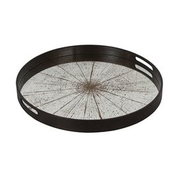 Ethnicraft USA LLC Small Aged Slice Mirror Tray
