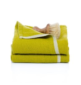 "Couleur Nature Chunky Linen LIME Hand Towel 20""x30"""