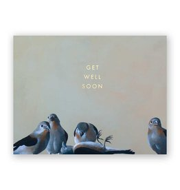 Mincing Mockingbird Get Well Flock Card