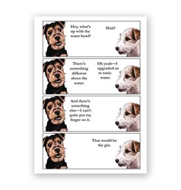 Mincing Mockingbird Gin Dog Card