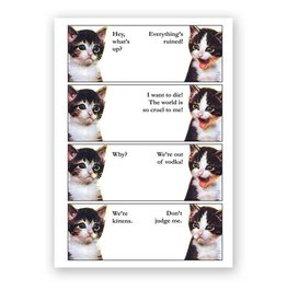 Mincing Mockingbird Vodka Kitten Card