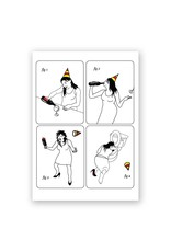 Wine Drinker Birthday Card