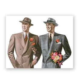 Mincing Mockingbird Gay Wedding Card