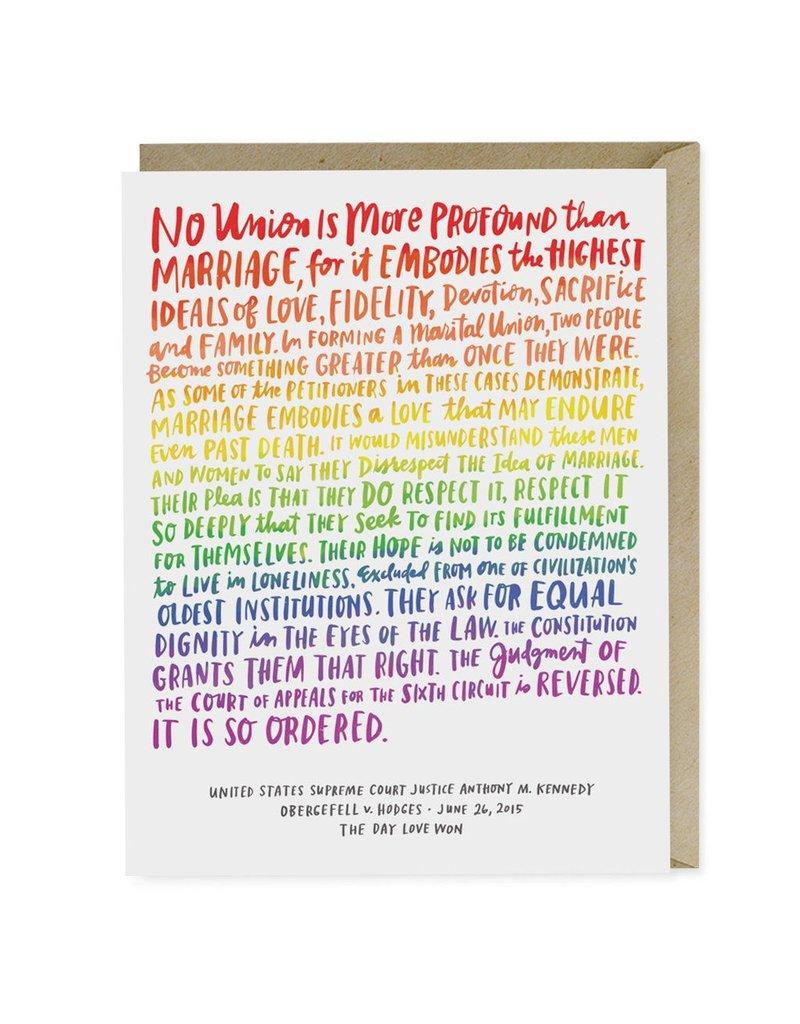 Emily McDowell Studio Love Wins Wedding Card