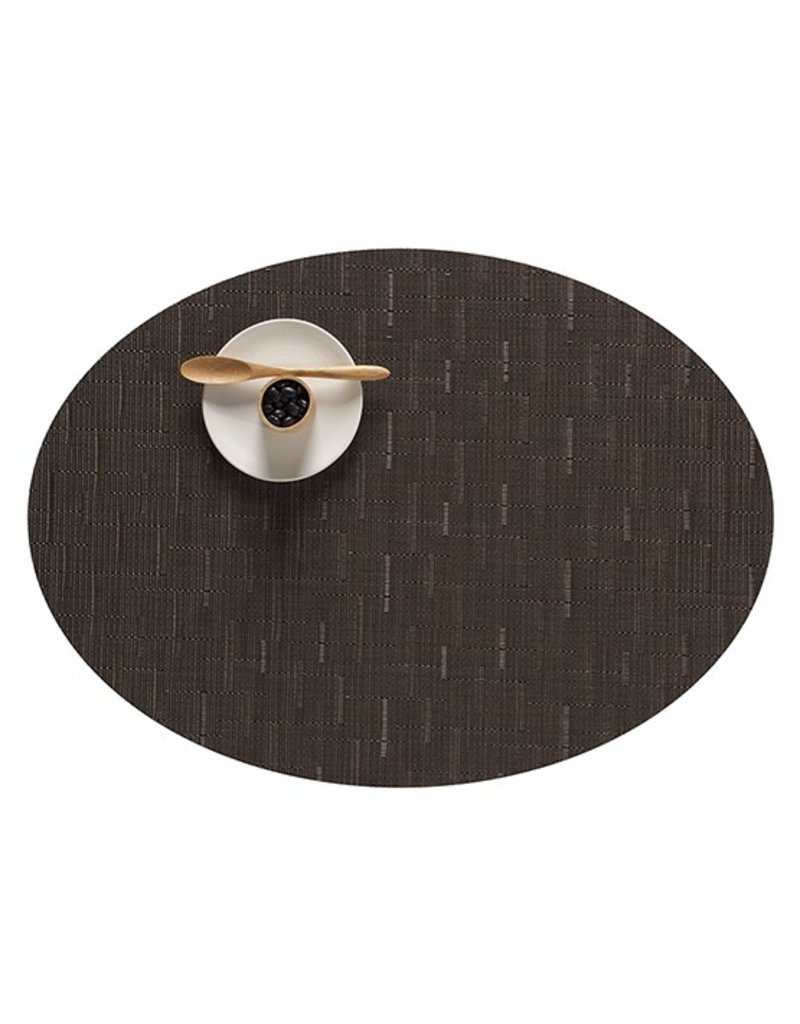 Chilewich Bamboo Oval Table Mat 14x19.25 CHOCOLATE