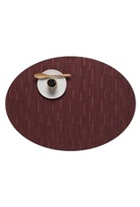 Chilewich Bamboo Oval Table Mat 14x19.25 CRANBERRY