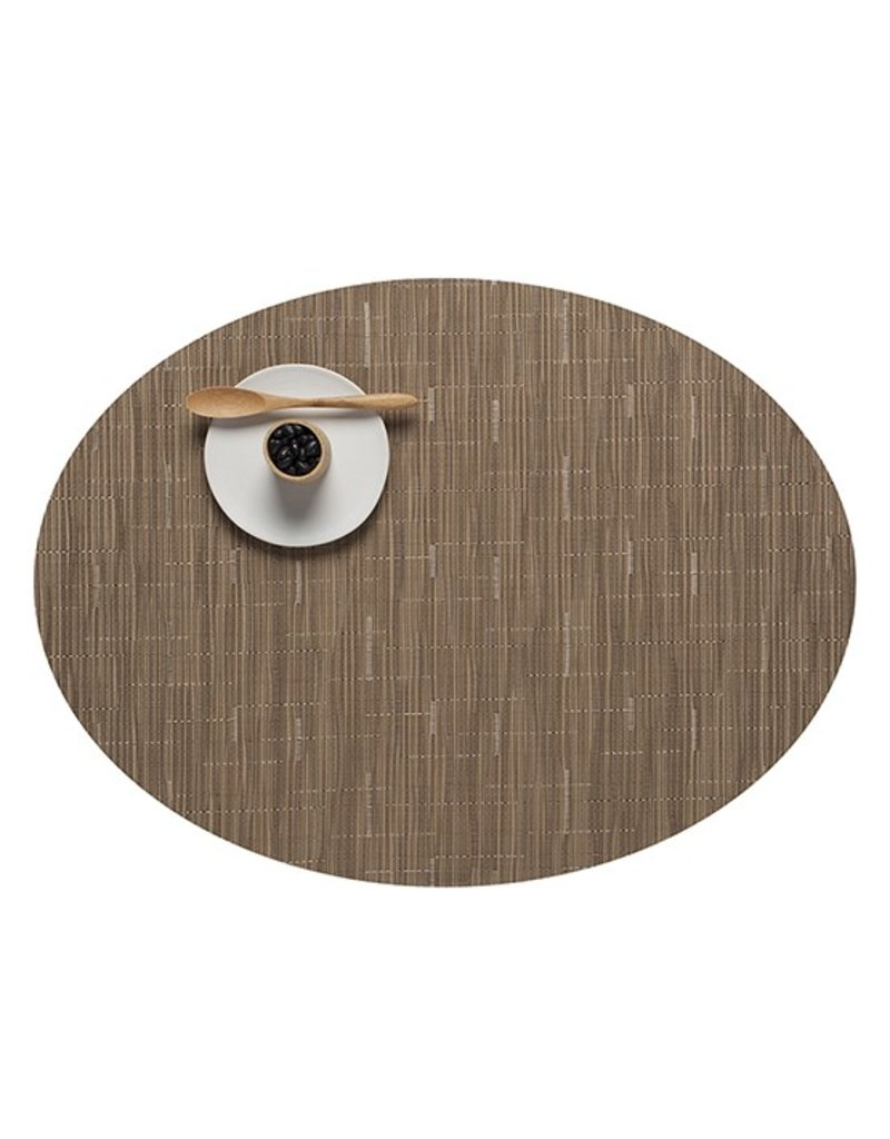 Chilewich Bamboo Oval Table Mat 14x19.25 CAMEL