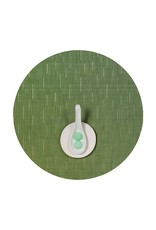 """15"""" Round Bamboo Table Mat, Lawn Green"""