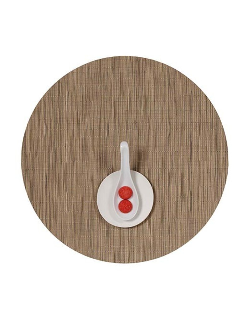 Chilewich Bamboo Table Mat 15 Round CAMEL