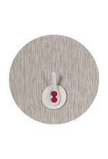 Chilewich Bamboo Table Mat 15 Round CHALK