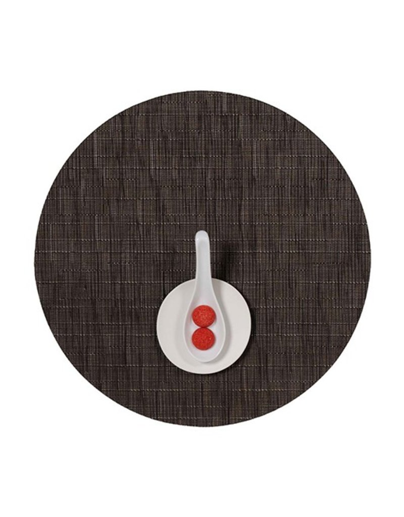 Chilewich Bamboo Table Mat 15 Round CHOCOLATE