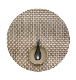 Chilewich Basketweave Table Mat 15 Round LATTE