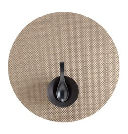 Chilewich Basketweave Table Mat 15 Round NEW GOLD