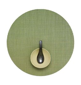 Chilewich Basketweave Table Mat 15 Round GRASS GREEN