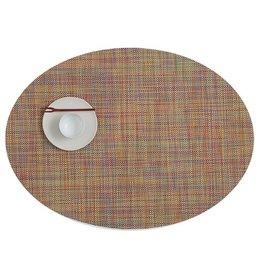 Chilewich MiniBasket Oval Table Mat 14x19.25 CONFETTI