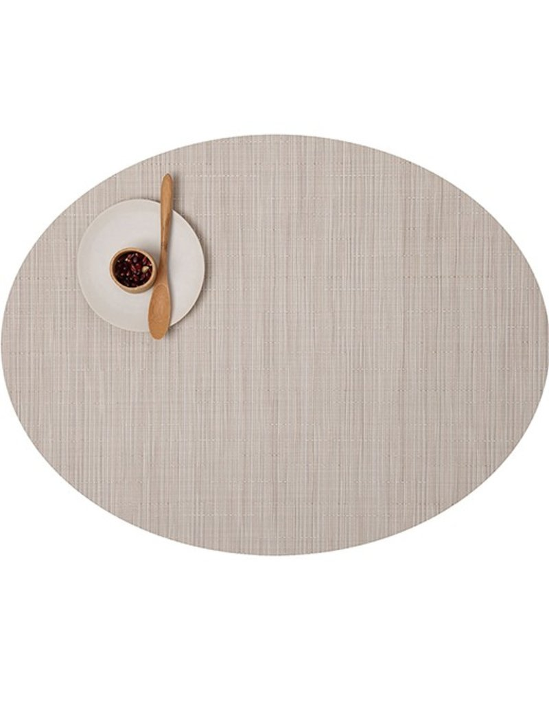 Chilewich Bamboo Oval Table Mat 14x19.25 CHINO