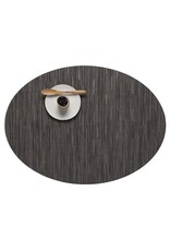 Chilewich Bamboo Oval Table Mat 14x19.25 GREY FLANNEL