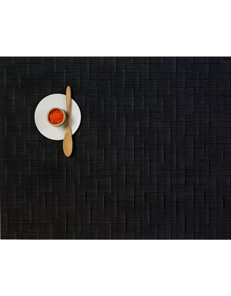 Chilewich Bamboo Table Mat 14x19 JET BLACK