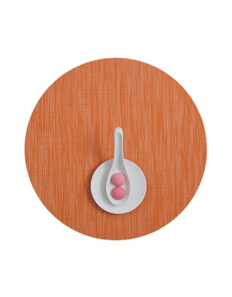 Chilewich Bamboo Table Mat 15 Round MANDARIN