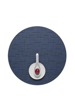 Chilewich Bamboo Table Mat 15 Round LAPIS