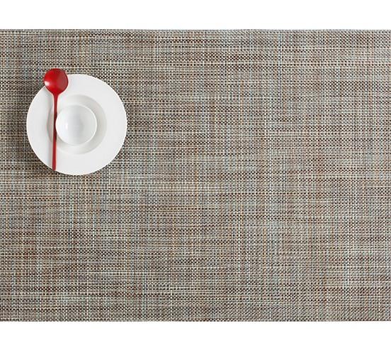"""14""""x19"""""""" Mini Basketweave Table Mat, Pistachio"""