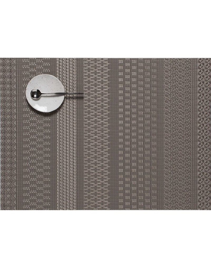 chilewich mixed weave luxe table mat 14x19 topaz