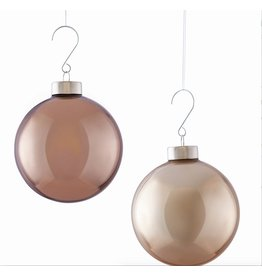 GLASS MODERN BUBBLE PENDANT ORNAMENT, TAUPE