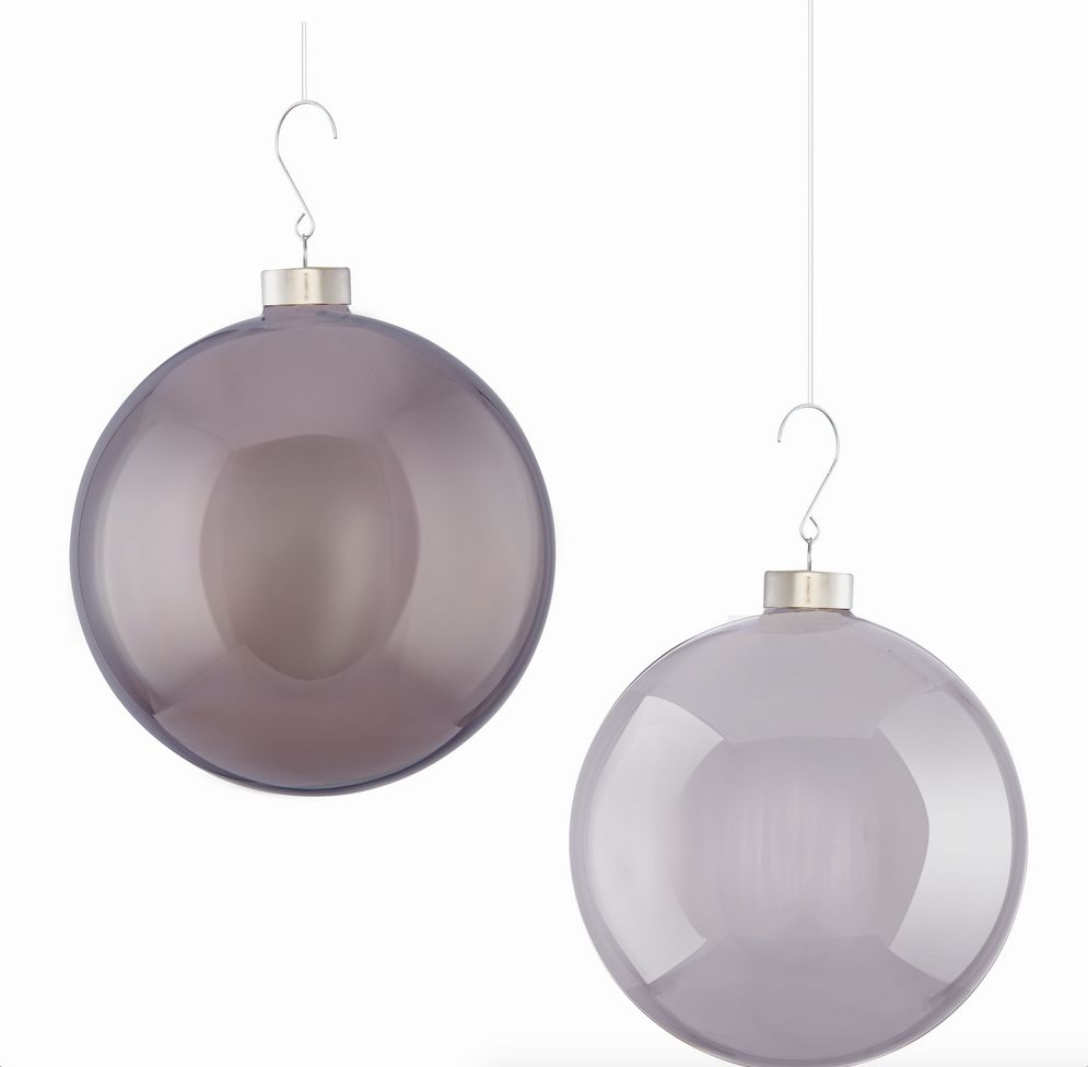 GLASS MODERN BUBBLE PENDANT ORNAMENT, CHARCOAL