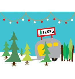 R. Nichols Christmas Tree Lot Holiday Cards, Box of 10
