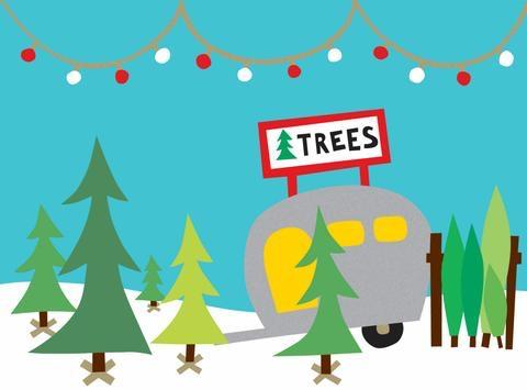 christmas tree lot holiday cards