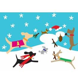 R. Nichols Snowdog Holiday Cards, Box of 10
