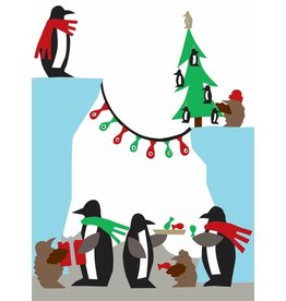 R. Nichols Holiday Penguins Holiday Cards, Box of 10