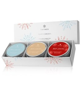 Thymes HOT COCOA TRAVEL TIN CANDLE TRIO
