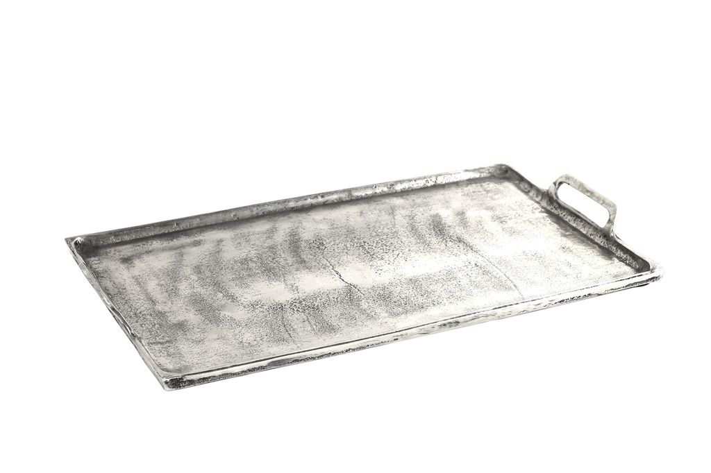 Large Tray in Antique Nickel
