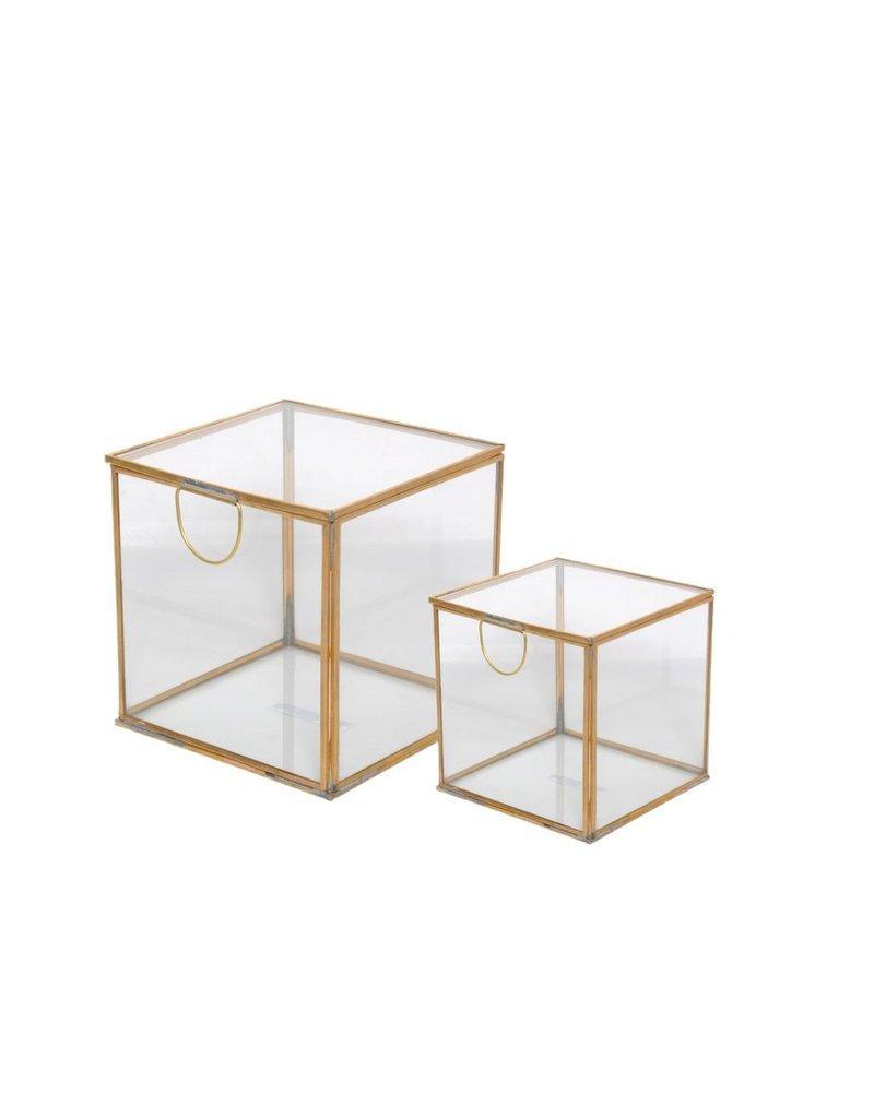 BIDK Home Brass & Glass Box, Small