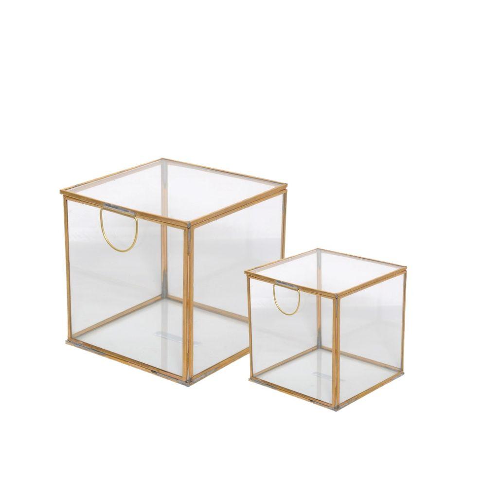 Brass & Glass Box, Small