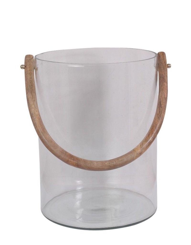 BIDK Home Large Glass Bucket <br /> Set of 3 Galvanized<br /> Planters