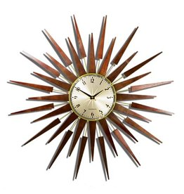 Newgate The Pluto Starburst Clock- Gold