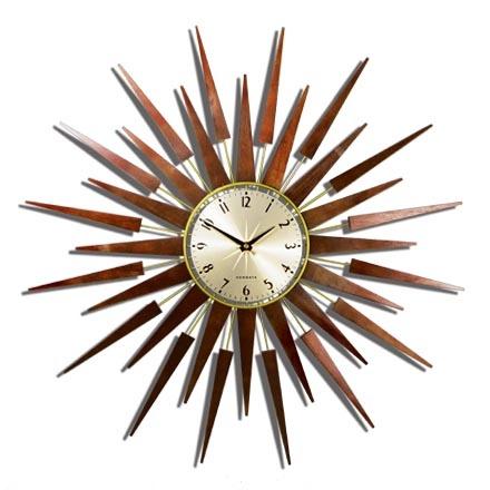 The Pluto Starburst Clock- Gold