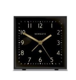 Newgate Cubic Alarm Clock, Gravity Gray, Reverse Dial