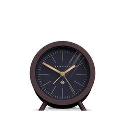 Newgate Fred Alarm Clock, Chocolate Black, Reverse Dial