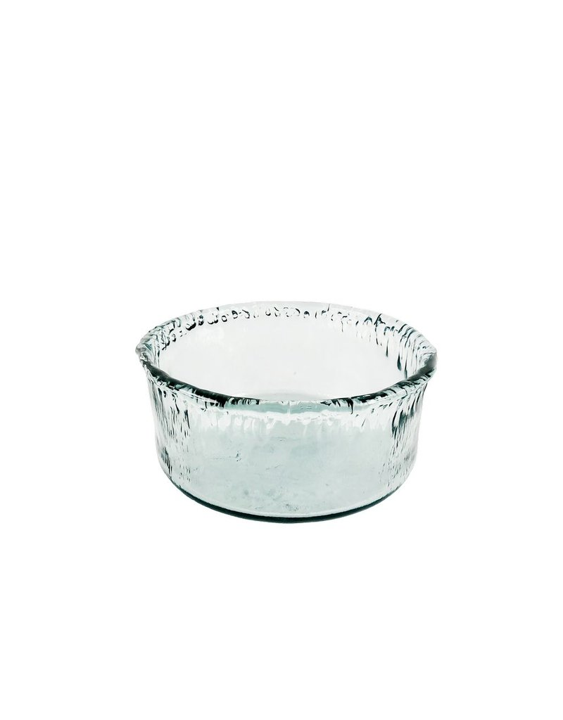 BIDK Home Extra Large Recycled Glass Artisanal Bowl