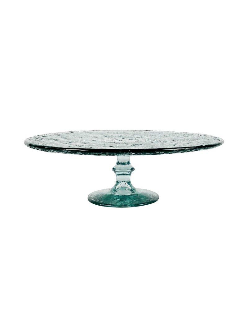 BIDK Home Recycled Glass Cake Plate